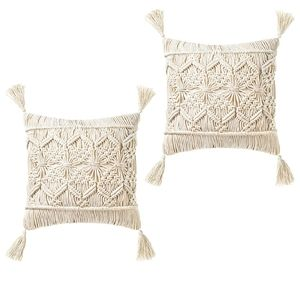 Urban Outfitters Throw Pillow Cover Macrame Tassel